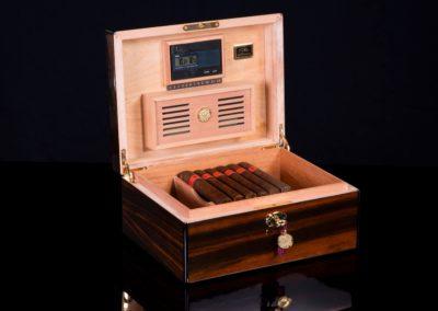 30100 Macassar daniel marshall cigar humidor b