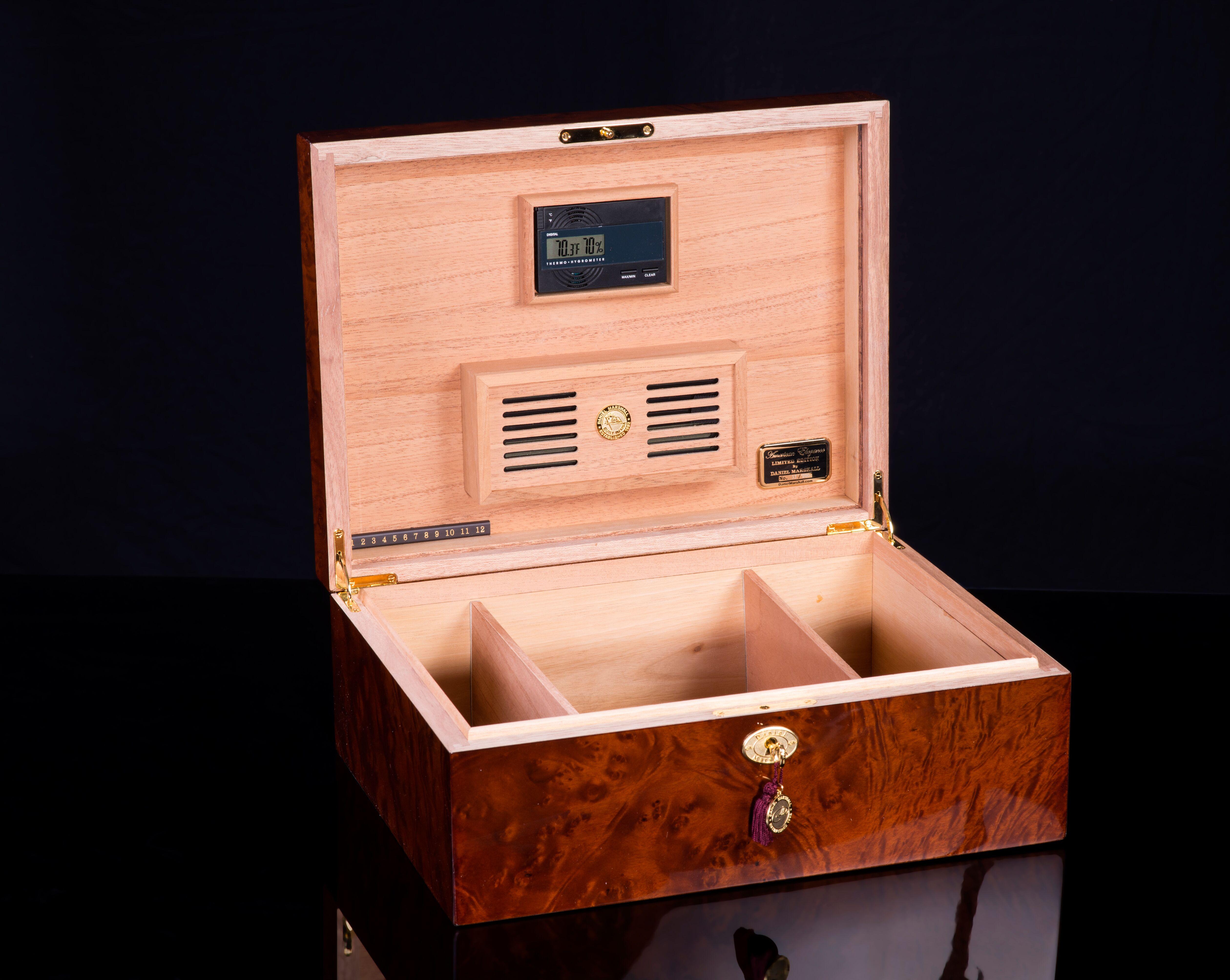 daniel marshall 200165.3 cigar humidor box